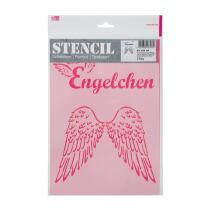 Schablone / Stencil DIN A4 - Engelchen und Engelsflügel