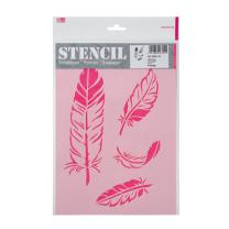 Schablone / Stencil DIN A4 - Federn