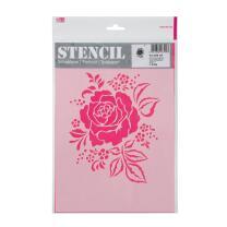 Schablone / Stencil DIN A4 - Rosenarrangement