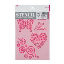 Schablone / Stencil DIN A4 - Past Times
