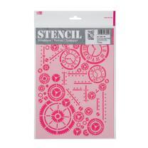 Schablone / Stencil DIN A4 - Zahnrad Zifferblatt