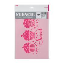 Schablone / Stencil DIN A4 - Sweet Cupcakes