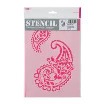 Schablone / Stencil DIN A4 - Paisley Ornamente