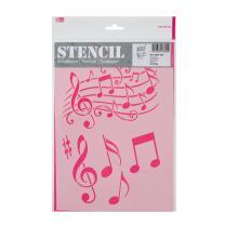 Schablone / Stencil DIN A4 - Musik