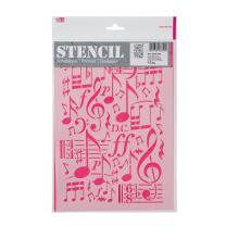 Schablone / Stencil DIN A4 - Musik Fläche