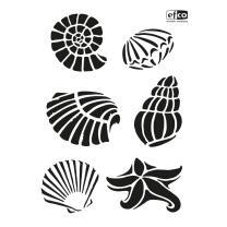 Schablone / Stencil DIN A4 - Muscheln