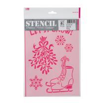 Schablone / Stencil DIN A4 - Let it snow