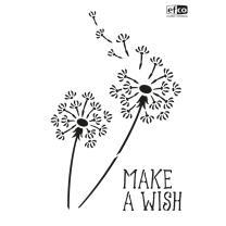 Schablone / Stencil DIN A4 - Pusteblume Make a Wish