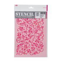 Schablone / Stencil DIN A4 - Blätterranke Fläche