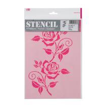 Schablone / Stencil DIN A4 - Rosenranke