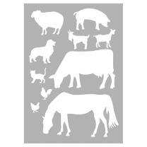 Schablone / Stencil DIN A4 - Farmtiere