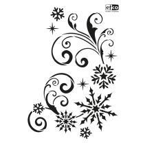 Schablone / Stencil DIN A4 - Schneekristalle & Ornamente