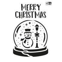 Schablone / Stencil DIN A4 - Merry Christmas