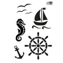 Schablone / Stencil DIN A4 - Maritim