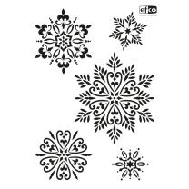 Schablone / Stencil DIN A4 - Schneekristalle