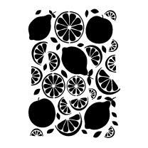 Schablone / Stencil DIN A4 - Orange / Zitrone