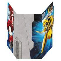 Transformers Einladungskarten mit Umschlag, 6 Stück