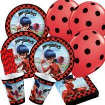 50-teiliges Party-Set Miraculous Ladybug - Teller Becher...