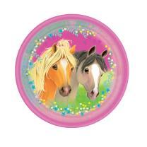 Pferde - Pretty Pony -  Pappteller, 8 Stück 23 cm