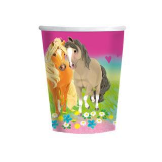 Pferde - Pretty Pony -  Pappbecher, 8 Stück 0,25 l