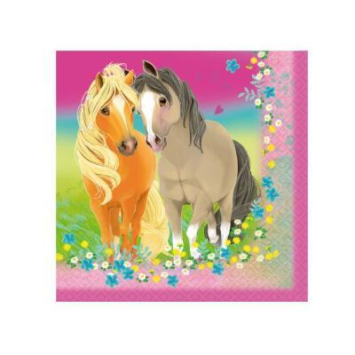 Pferde - Pretty Pony -  20 Servietten, 33 x 33 cm