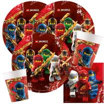 52-teiliges Party-Set Lego Ninjago - Teller Becher...