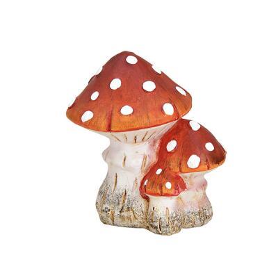 Pilz aus Ton - rot - 15 cm