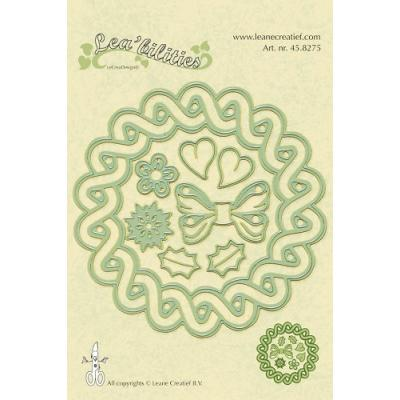 Leane Creatief Leabilities Stanzschablone - Kranz 4 Jahreszeiten - wreath 4 seasons (45.8275)