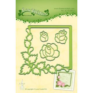 Leane Creatief Leabilities Stanzschablone - Rahmen Rosen - frame roses (45.0812)