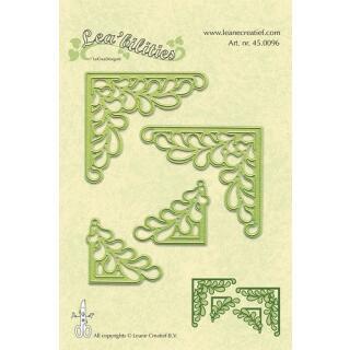 Leane Creatief Leabilities Stanzschablone - Ecke Blätter - corners leave (45.0096)