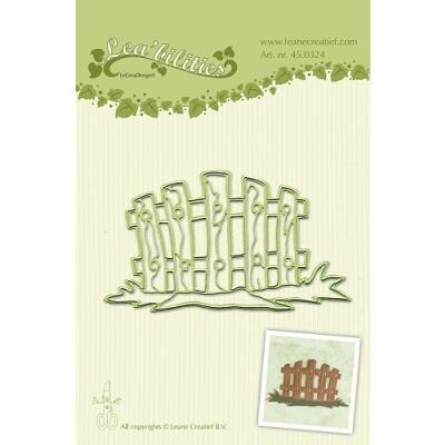 Leane Creatief Leabilities Stanzschablone - Gartenzaun - garden gate round (45.0324)