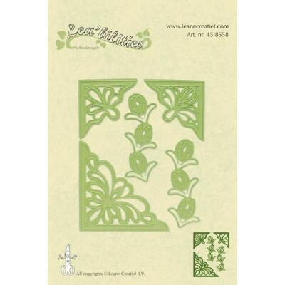 Leane Creatief Leabilities Stanzschablone - Ecke Blumen - corners flowers (45.8558)
