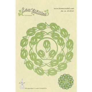 Leane Creatief Leabilities Stanzschablone - Rahmen Blumen - frame flowers (45.8541)