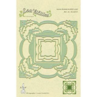 Leane Creatief Leabilities Stanzschablone - Rahmen Stechpalme - frame holly (45.8251)