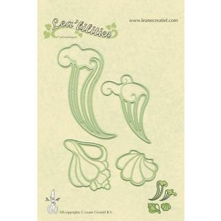 Leane Creatief Leabilities Stanzschablone - Muschel und Wellen - seashell and waves (45.8121)