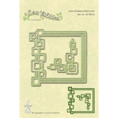 Leane Creatief Leabilities Stanzschablone - Rahmen Quadrate - frames suqares (45.9616)