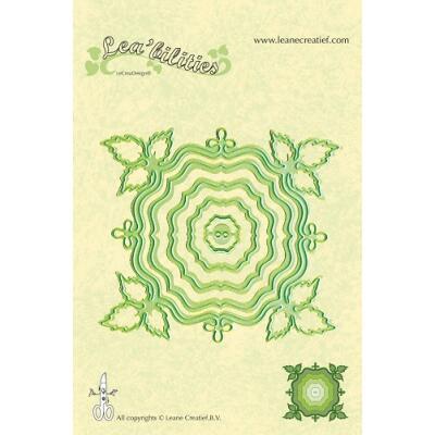 Leane Creatief Leabilities Stanzschablone - Rahmen Blätter- frame leave (45.7667)