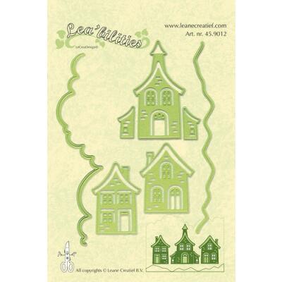 Leane Creatief Leabilities Stanzschablone - Häuser - houses (45.9012)