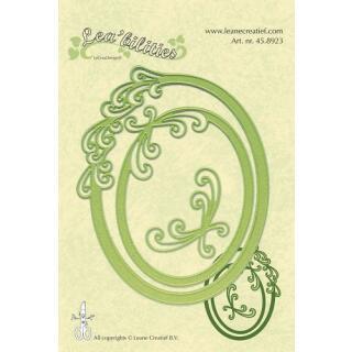 Leane Creatief Leabilities Stanzschablone - Rahmen oval Kurven - frame oval curves (45.8923)