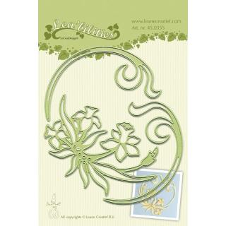 Leane Creatief Leabilities Stanzschablone - Narzisse - daffodil and swirls (45.0355)