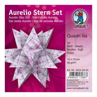 Ursus Aurelio Stern Set Faltblätter 10 x 10 cm - Quadri lila lila/hellblau bedruckt (34246800)