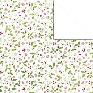 Aurelio Stern Set Faltblätter 15 x 15 cm - Ilex weiß/rot/grün veredelt