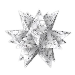 Aurelio Stern Set Faltblätter 14,8 x 14,8 cm - Noten schwarz  Transparentpapier