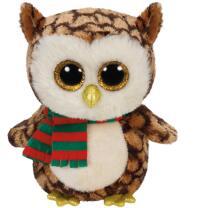 Ty Beanie Boos Eule   - Wise X-Mas Weihnachten 15 cm