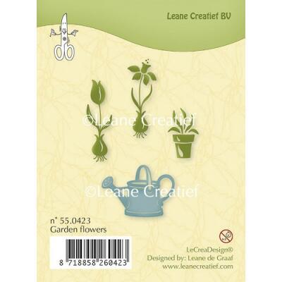 Leane Creatief clear stamp - Gartenblumen (55.0423)
