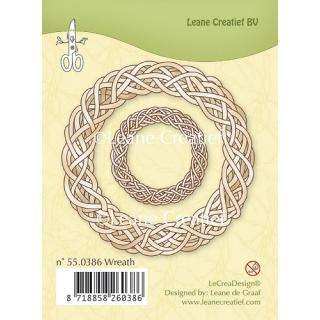 Leane Creatief clear stamp - Kranz 7 und 3,5 cm (55.0386)