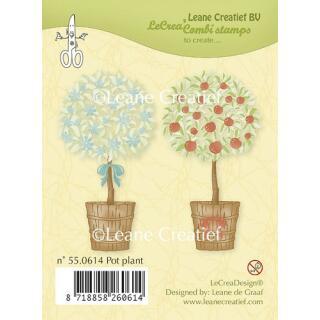 Leane Creatief clear combi stamp - Topfpflanzen (55.0614)