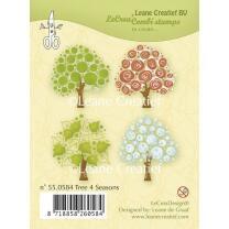 Leane Creatief clear combi stamp - Bäume 4...