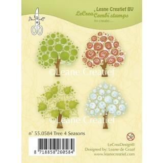 Leane Creatief clear combi stamp - Bäume 4 Jahreszeiten (55.0584)
