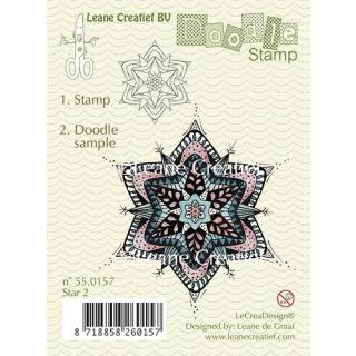 Leane Creatief clear doodle stamp - Stern 2 (55.0157)